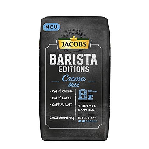 Jacobs Kaffeebohnen Barista Editions Crema Mild, 1 kg Bohnenkaffee