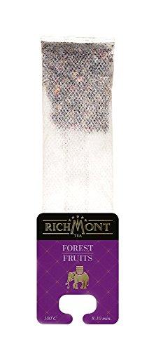 RICHMONT FOREST FRUITS - Premium Selected Beuteltee Früchter Tee, 50 Stk. Teebeutel mit einzigartiger Aufhängung für Teekanne, je 6 g