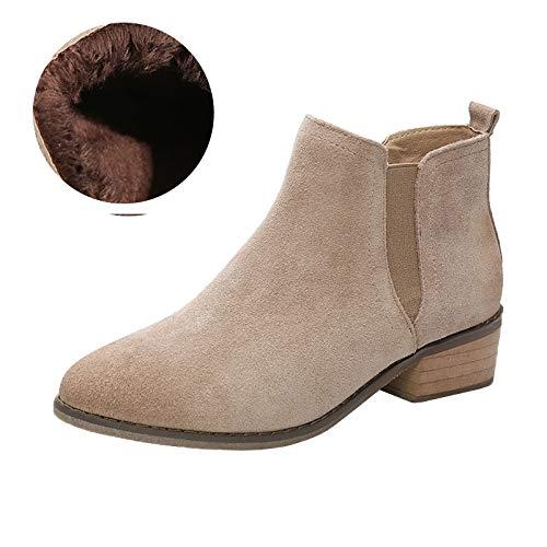 Shukun laarsjes Booties vrouwelijke herfst mat PU Martin laarzen vrouwelijk dik met vrouwen laarzen enkele laarzen