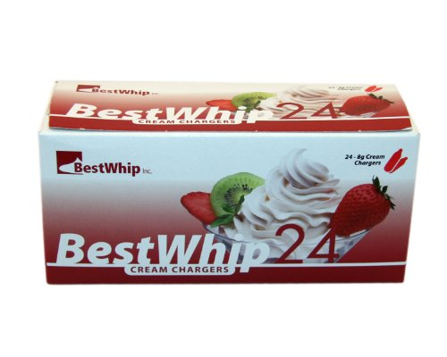 600 BESTWHIP (BW24) 8.5g N2O Whipped Cream Chargers - 1 case of 600 - 25 x 24