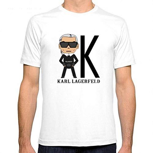 M-T Herren Rundhals Kurzarm T-Shirt Baumwolle Casual T-Shirt Sommer Herren Kurzarm Shirt Modedruck, Weißer, XXXL