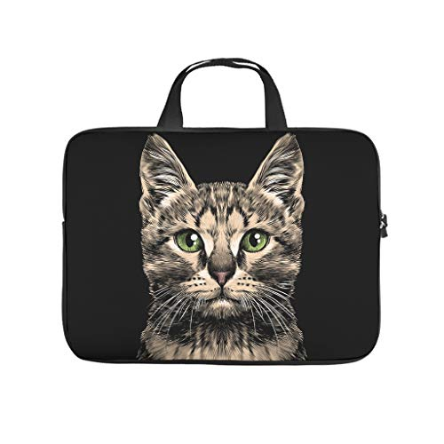 Cute cat Laptop Case Sleeve Bag Lightweight Water-Repellent Laptop Case Laptop for Notebook/MacBook/Ultrabook/Chromebook White 12 Zoll