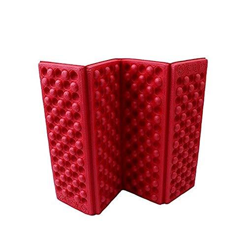 Isuper Deporte Plegable al Aire Libre Plegable Colchoneta Asiento de Espuma de XPE Cojín portátil de Humedad Impermeable a Prueba de Presidente de Picnic Mat Pad Rojo
