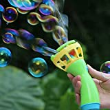 Jinjin Bubble Blower Fan Electric Bubble Wands Machine Bubble Fun Bubble Blowing Shooter for Boys Girls Automatic Blower Outdoor Toy for Kids Toys Games Activities Amusements (Green)