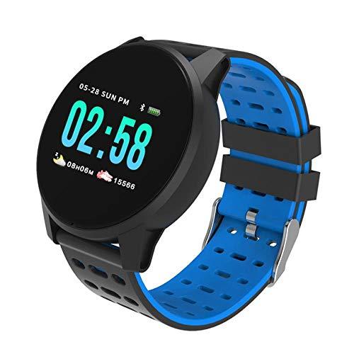 Oyznsb Smartwatch armband voor mannen vrouwen en meisjes sport tracker fitness IP68 waterdicht voor Xiao Mi Huawei iOS mobiele telefoons, Blauw