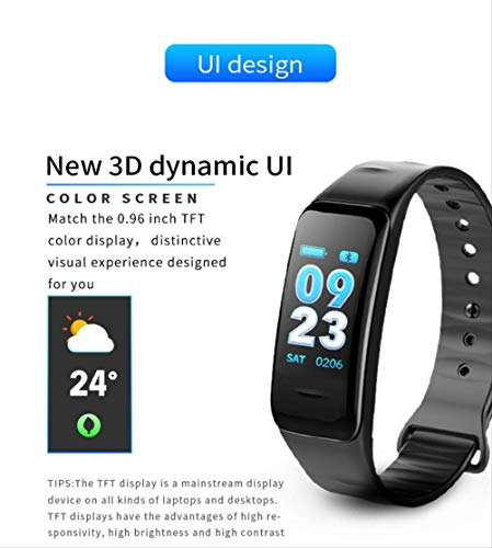 Pulsera inteligente con pantalla a color, monitor de frecuencia cardíaca impermeable, Fitness Tracker Bluetooth, reloj… 9