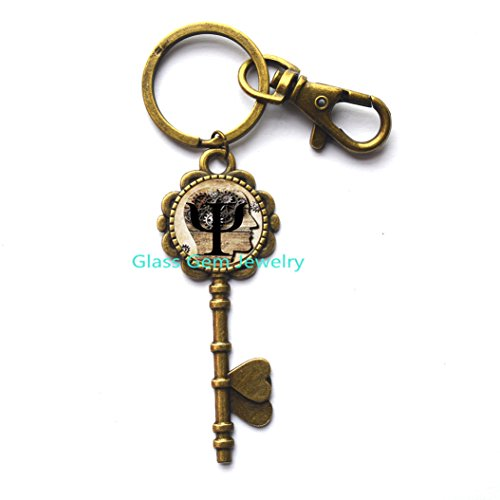 FashionKey KeychainPsiSymbolKey KeychainPsychologyKey Key RingGlassCabochonKey Keychain.XY38