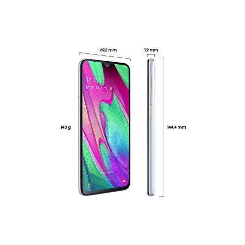 Samsung Galaxy A40 Smartphone (15.0cm (5.9 Zoll) 64GB interner Speicher, 4GB RAM, Dual SIM, White) - Deutsche Version