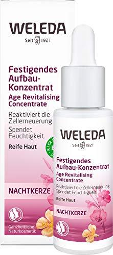 WELEDA Nachtkerze Festigendes Aufbau-Konzentrat, pflegendes und strukturierendes Naturkosmetik Feuchtigkeits Serum, reaktiviert die Zellerneuerung, Intensiv-Pflege zur Minderung von Falten (1 x 30 ml)