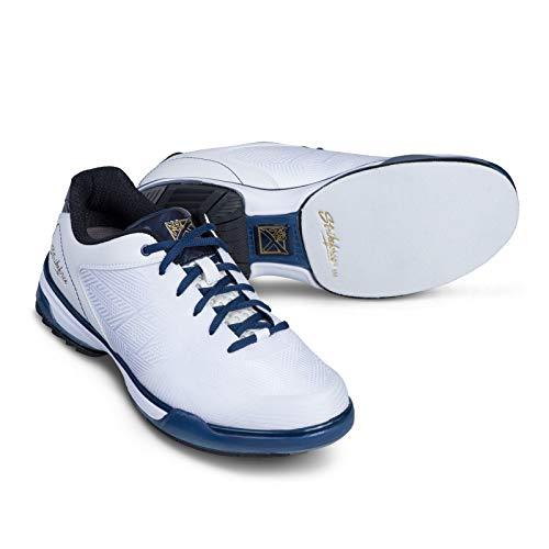 KR Strikeforce Unisex-Erwachsene Rage White/Navy Mens (RH) Size 10.5 Bowlingschuhe, weiß/Marineblau