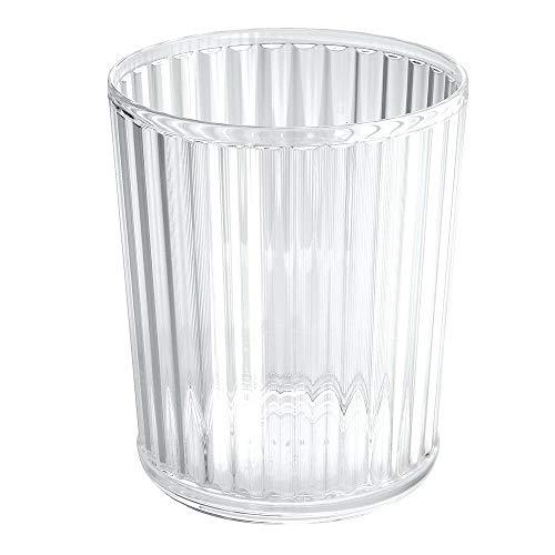mDesign Abfallsammler aus Acryl - perfekt als Mülleimer in der Küche, Papierkorb im Büro oder Flexibler Abfalleimer im Bad - transparent