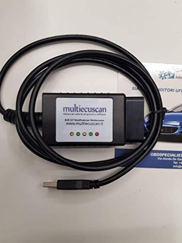 Multiecuscan ELM 327 OBDII-Diagnosegerät für Fahrzeuge, zum Modifizieren des Originals, CAN-OBD2 Fiat Service Fiatecuscan
