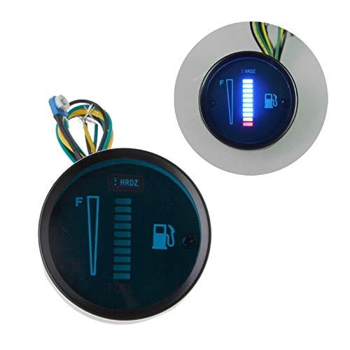 "No-branded Odometer Spur Auto-Motorrad-Kraftstoff-Niveau Meter-Messgerät 2"" 52mm 8 LED Light Display 12V 24V 0-566 OHM Auto-Motorrad-Instrumente ZHQHYQHHX (Color : DC12V Blue, Size : Kostenlos)"