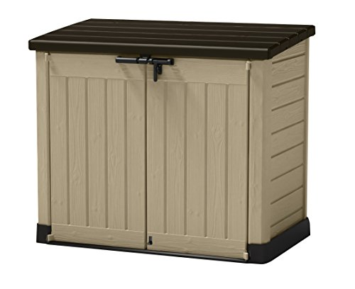 Keter Store-It Out Max Outdoor Plastic Garden Storage Shed, Beige and Brown, 145.5 x 82 x 125 cm (L x H x W)