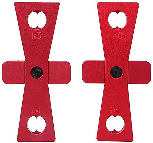 Herramientas de Marcado de Cola de Milano,2 PCS Mano de Escrito Marcado de Carpintería Jig de Marcado de Juntas de Carpintería Herramienta de Cola de Milano para Muebles de Carpintería