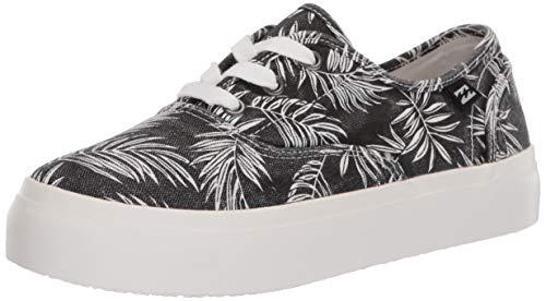 Billabong Women's Coastlines Sneaker, Black White, 8.5 US medium