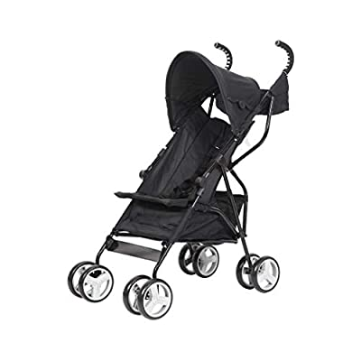 Diroan Baby Strollers Lightweight Foldable, Travel Umbrella Stroller with Carry Belt, Rain Cover for Travel or Everyday Use, Black