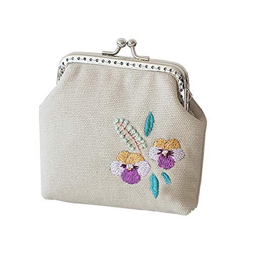 YSoutstripdu Frauen Handtaschen DIY Stickerei Bird Girl Purse Wallet Needlework Cross Stitch Materials-A/B/C/D