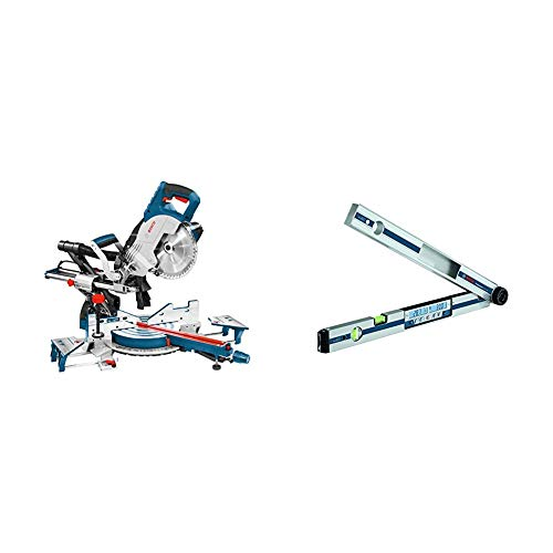 Bosch Professional Paneelsäge GCM 8 SJL (1600 Watt, Sägeblatt-Ø: 216 mm) + Bosch Professional Winkelmesser GAM 270 MFL (60 cm Schenkellänge)