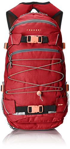 FORVERT Backpack Ripstop Louis, Red, 50.5 x 26.5 x 12 cm, 19.5 Liter, 880621