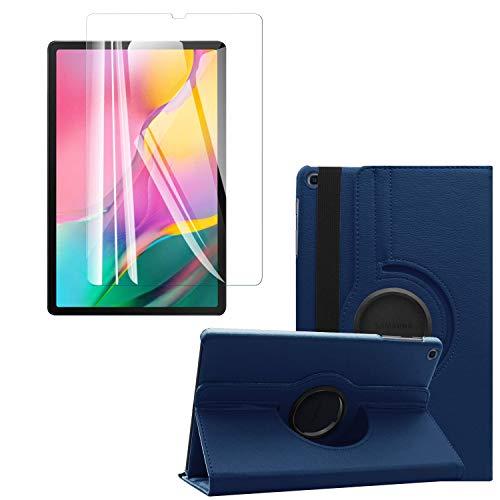 ToProducs - Funda para Samsung Galaxy Tab A 10.1 2019 T510 T515 (incluye protector de pantalla de cristal templado y lápiz capacitivo), color azul