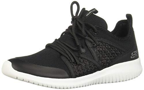 Skechers Ultra Flex New Deal Damen Sneaker Fitnessschuhe Air Cooled 13096 BKW, Schuhgröße:40 EU