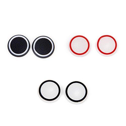 Tapas de palanca de mando - SODIAL(R) 3 pares de tapones de palo palanca de mando del pulgar para PS2 3 4 Xbox uno / 360