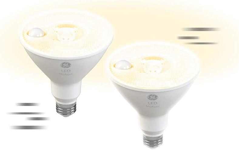 GE Lighting LED+ Motion Sensor Bulbs Light safety Max 55% OFF PAR38 Outdoor