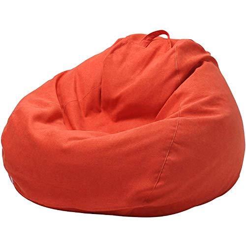 WAJI Classic zitzak sofa cover, stof luie sofa bed stoel eenvoudige enkele bean bag woonkamer slaapkamer, geschikt voor volwassenen en kinderen, niet nodig om te vullen -100x120cm