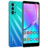 3G Telefonos Moviles, 5.5 Pulgadas Android Smartphone Telefono Movil Libres ,1GB RAM+4GB ROM Quad Core, Dual SIM Dual Standby, 2800mAh Batería Telefono Celular (Reno4-Azul)