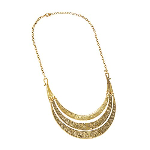 Bristol Novelty BA3224 Egyptian Necklace, Women, Gold