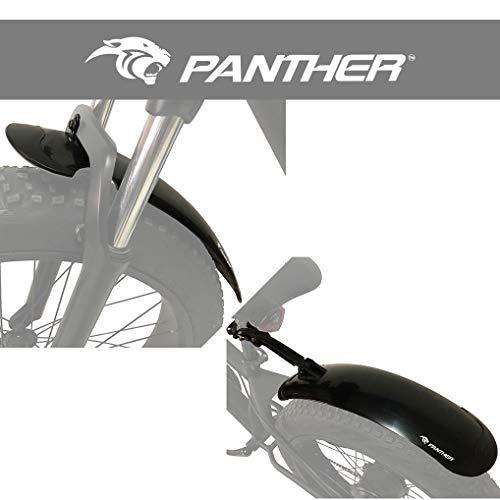 PANTHER (パンサー) ファットバイク ビーチクルーザー自転車用泥除け フェンダー 20~26インチ対応 前後セット 角度調整 「簡単取り付け・ワンタッチ着脱」軽量500g 038 (フロント(逃しあり))