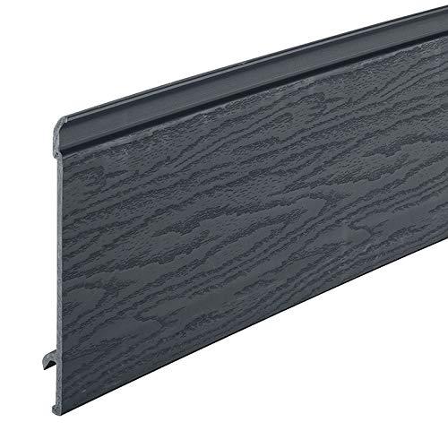 Anthracite Grey Coastline Shiplap Cladding Composite Board Grained Texture with Fire Retardant