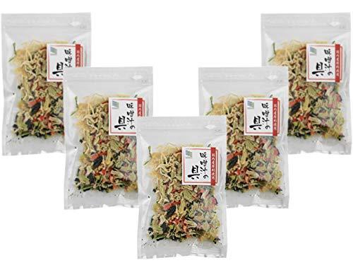 乾燥味噌汁の具22g×5個セット (国内産原料使用)(キャベツ 人参 小松菜 大根)を熱湯で戻せます!やさいの旨味、食感、栄養、美味しさが食卓でお楽しみ頂けます