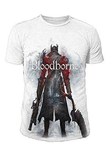 Bloodborne - Camiseta de manga corta para hombre - Hunter Street (blanco) (S-XL). Blanco XL