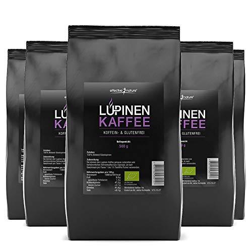 effective nature - Lupinenkaffee im Sparpaket - 5x 500g - Der ideale Kaffeeersatz - Koffein- und Glutenfrei - Aus kontrolliertem Bio-Anbau - Vollmundiger Geschmack