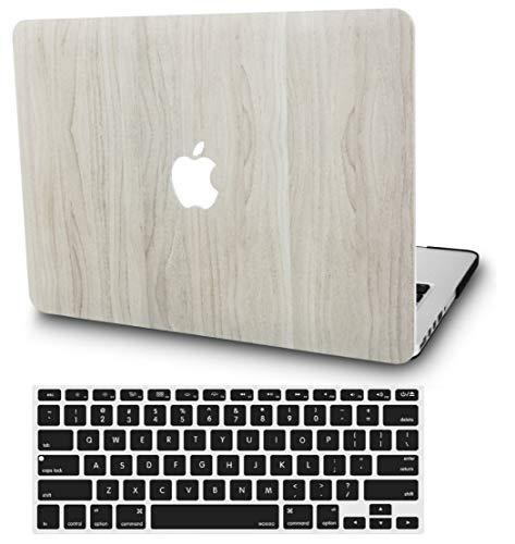KECC MacBook Pro 13 Pulgadas (2020/2019/2018/2017/2016, Touch Bar) Funda Dura Case w/EU Cubierta Teclado MacBook Pro 13.3 Ultra Delgado Plástico {A1989/A1706/A1708} (Madera de Pino 2)