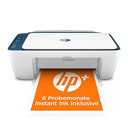 HP DeskJet 2721e Multifunktionsdrucker (HP+, Drucker, Scanner, Kopierer, WLAN, Airprint) inklusive 6 Monate Instant Ink,Blau