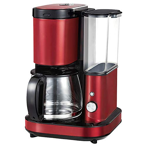 RLIRLI Volautomatische koffiemolen, Amerikaans koffiezetapparaat, 10 kopjes, gefilterd koffiezetapparaat met koffiezetapparaat, uitneembare, geraffineerde molen, koffiezetapparaat
