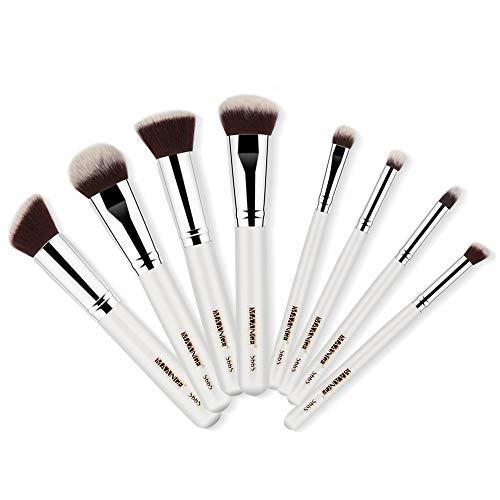 Dtuta Kit De Brosse De Maquillage,8Pcs Maquillage Pinceaux Poudre Base Fard à PaupièRes Fard à PaupièRes Pinceau LèVre Pinceau