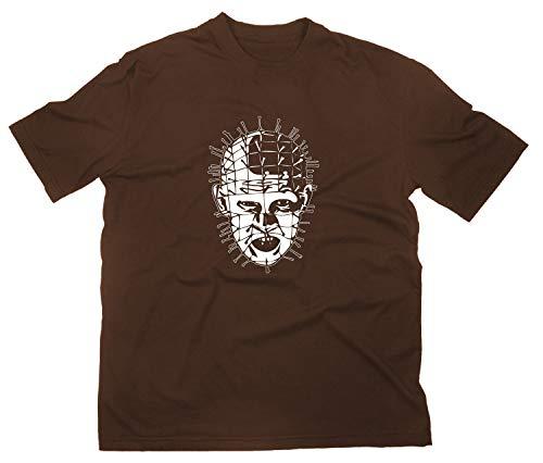 Hellraiser Pinhead Kult Horror T-Shirt, braun, L