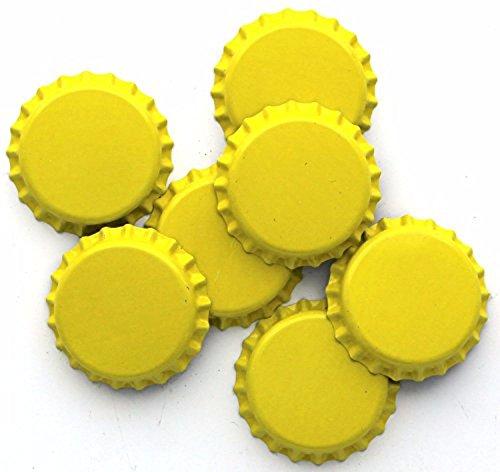 yellow beer bottle caps - 5
