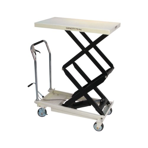 Jet Tools - DSLT-770, Double Scissor Lift Table, 770-lb. Capacity (140778), White