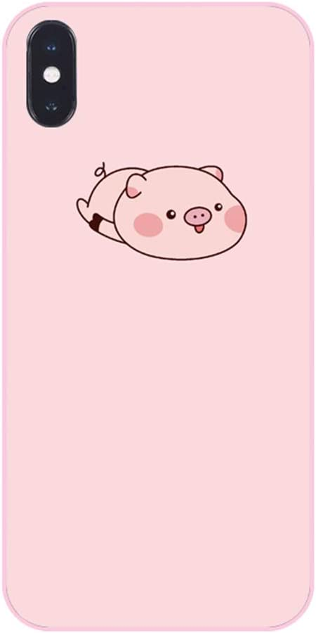 UnnFiko Pig Phone Case Compatible with iPhone 6/ iPhone 6s, Cute Cartoon Animal Soft Silicone Protective Case for Girls Women (A Pig, iPhone 6 / 6s)