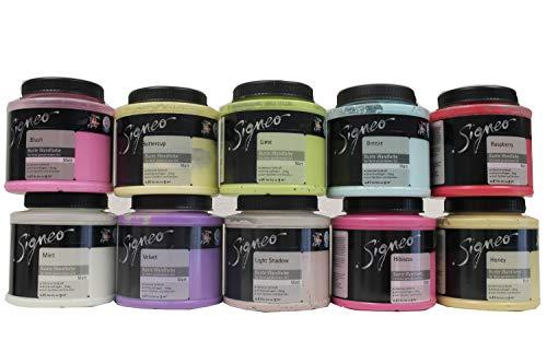 4x0,8 Liter Signeo Bunte Wandfarbe innen Matt 3,2 Liter Farbwahl, Farbe:Graphite