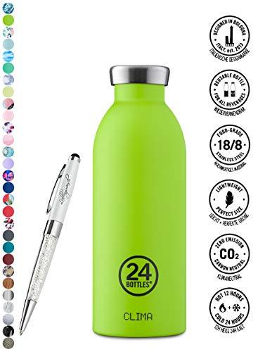 24 Bottles Bottiglia Clima 330 ml | 500 ml | 850 ml colori diversi 12h cold 24h hot, Contenuto:500 ml, Colore:lime green