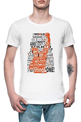 Behalten Ziehen Um Nach Vorne! Herren T-Shirt Tee Weiß Men's White T-Shirt