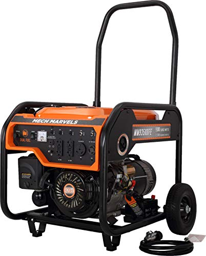Mech Marvels 9000 Watt Dual Fuel Portable Power Generator with Electric Start, CARB Compliant MM9350DFE Generators on Save