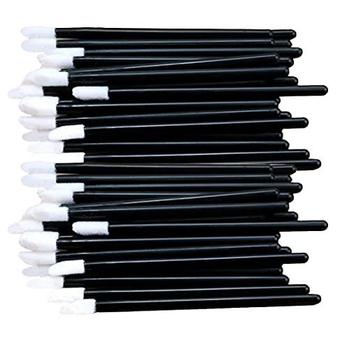 Lot de 100 pinceaux jetables pour gloss à lèvres Noir