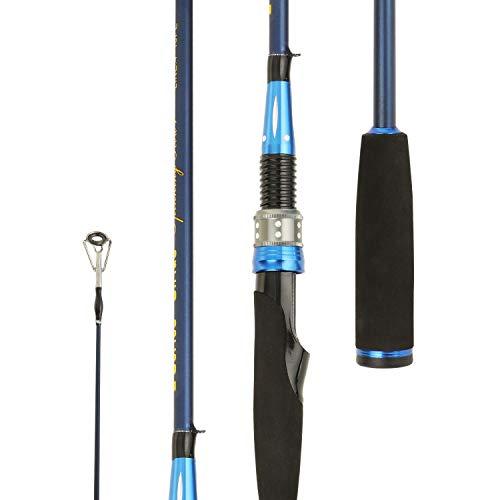Entsport 2-Piece Spinning Rod Graphite Portable Spinning Fishing Rod Inshore Spinning Pole Freshwater Spin Rod (8-20-Pound Test) 7' Medium Heavy